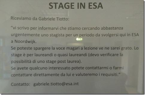 """Volantino """"Stage in ESA"""""""