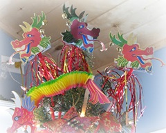 dragon-tree topper on chinese new year tree