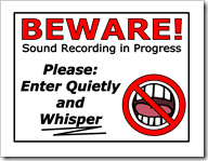 Sound Warning poster