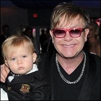 Elton John e o filho Zachary