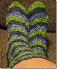 No Purl Monkey Sock - Fibernymph - Snips and Snails
