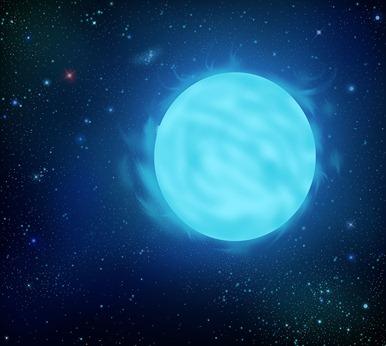 ilustração da estrela Wolf-Rayet R136a1