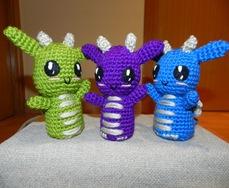 crias de dragon amigurumi