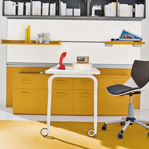 casa oficina amarillo gris
