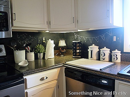 Chalkboard Paint Backsplash chalkboard paint backsplash