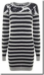 Armani Jeans Floral and Stripe Knitted Dress