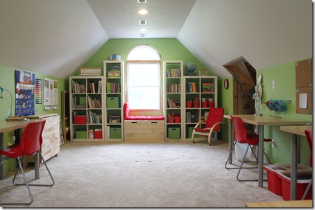 Our new homeschool room for Homeschool dining room ideas
