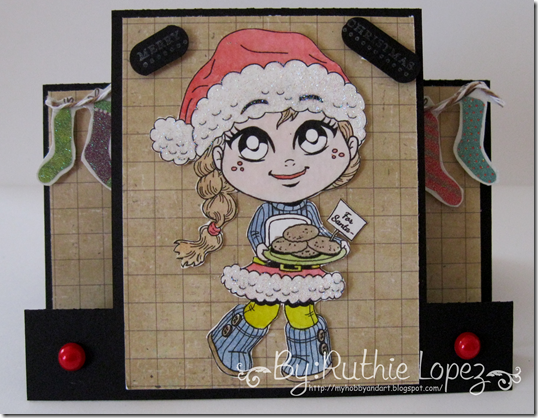 Kenny K digis - Santa Cookies - Center Step Card - Silhouette Cameo - 613 Avenue Create - Ruthie Lopez DT 3