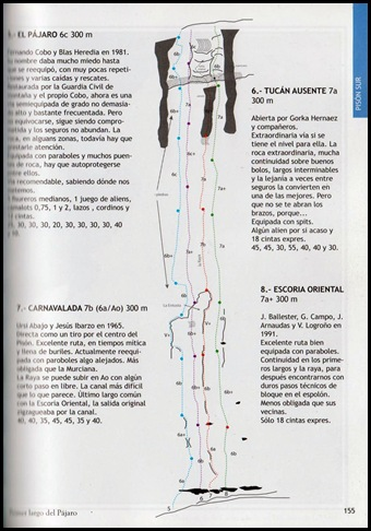 Riglos - Pison - Carnavalada 300m 7b (6a A0 Oblig) (Libro)