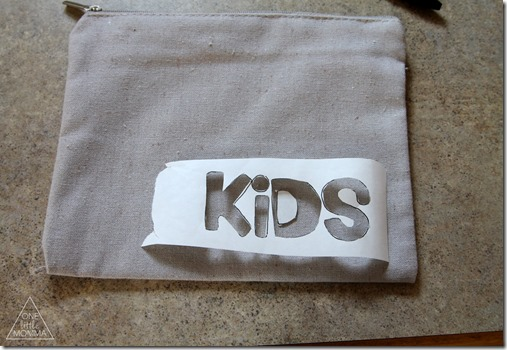 Easily customize these blank bags to organize your purse with items for you and for your kids.