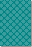 iPhone Wallpaper - Teal Blue Quatrefoil - Sprik Space