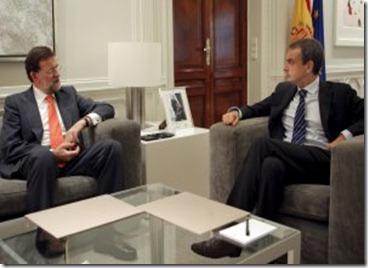 zapatero y Rajoy en la mon