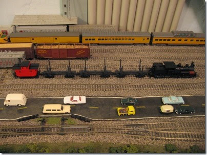 IMG_0526 Log Train on My Layout on April 11, 2008