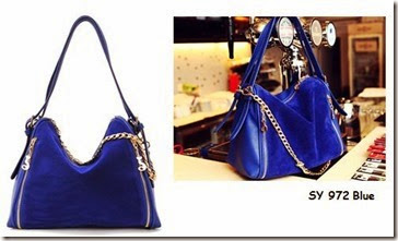 SY 972 BLUE (192.000) - PU Leather, 27 x 27 x 15