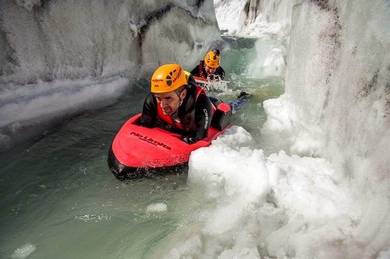 Hydrospeeding on The Aletsch Glacier | Amusing Planet