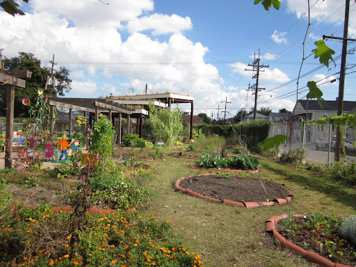 The garden is used not only by students, but for neighborhood events as well.  Students learn entrepreneurial skills by selling garden produce and cooked foods at a community market.