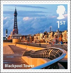 B - Blackpool Tower stamp