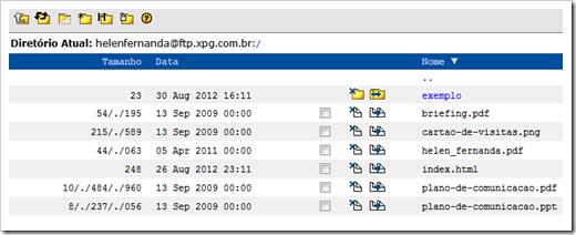 FTP pela web no XPG