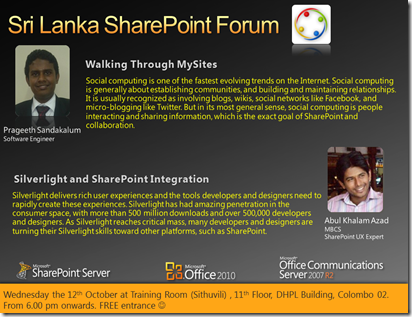 08 - SriLankaSharePointForum - 12th October 2011
