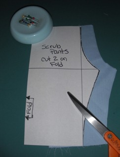 doll scrub pants step 4