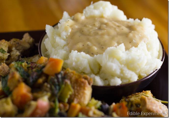 Cauliflower Mashed Potatoes and Gravy