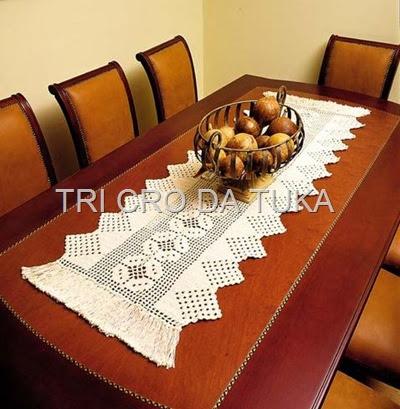 Tri cro da tuka abrindo caminhos vi - Camino de mesa elegante en crochet ...