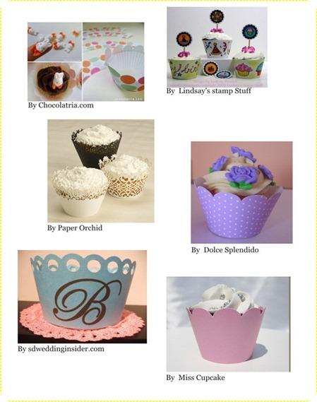 wrappers cupcakes como fazer