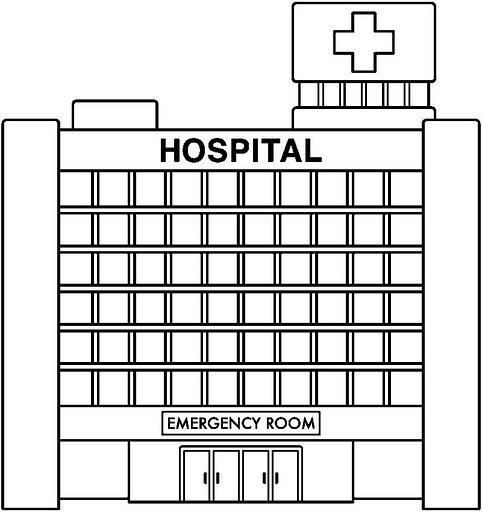 Dibujo de hospitales - Imagui