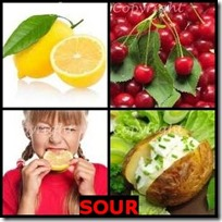 SOUR- 4 Pics 1 Word Answers 3 Letters