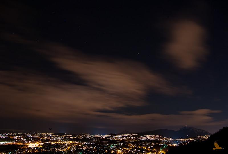 Fana by night  sett fra Smøråsen