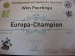 Een europees kampioen krijgt een echt diploma