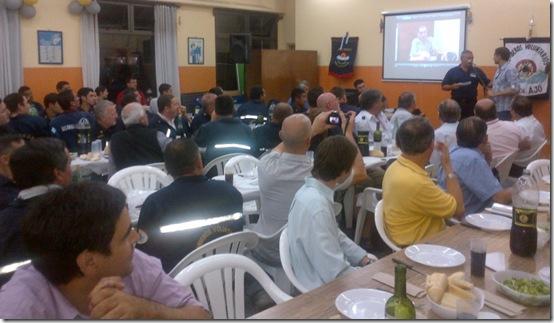 Cena de despedida del año con los bomberos de Mar de Ajó