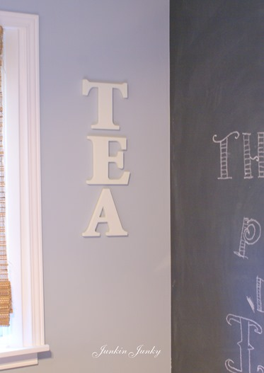 TEA wall letters at Junkin Junky