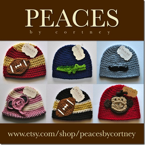 Peaces By Cortney: Handmade Crochet Hats &amp; Beanies for Babies &amp; Children