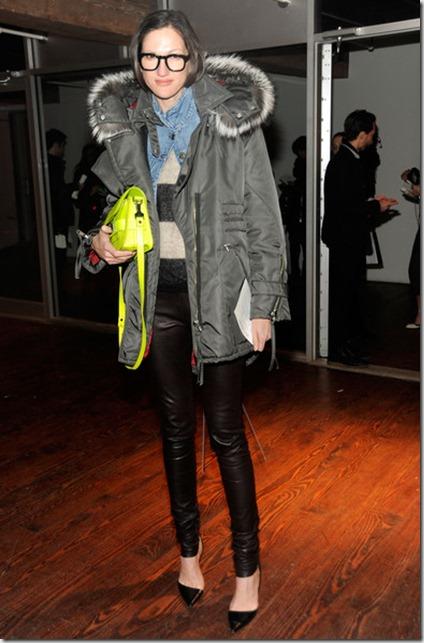 Jenna Lyons Altuzarra Front Row Fall 2012 H1y6rmRZb0ml