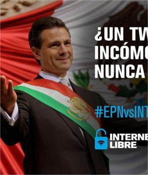 Imágenes de protesta sobre la reforma de telecomunicaciones #EPNvsINTERNET