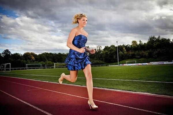 1- Corrida mais rápida de salto alto