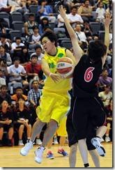 姜鳳君比賽中秀了一記假切真傳騙過對手