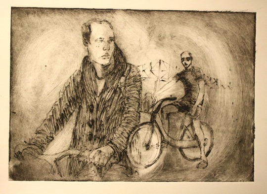 Drawing of James Schwartz by Michael Rubbo