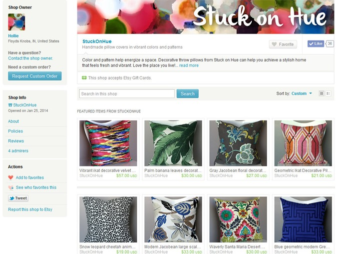 StuckOnHue on Etsy screenshot