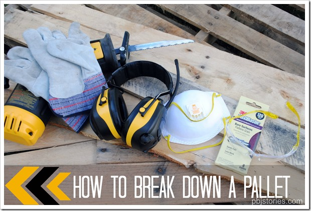 easy way to break down a pallet