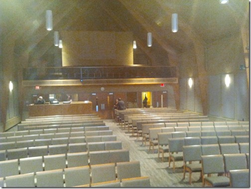 Emmaus Lutheran Church before people started showing up