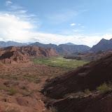 Quebrada de las Conchas. les Quebradas sont des vallées qui pourraient presque être assimilées à des bassins versants
