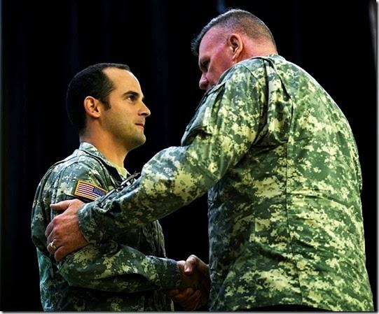(Then) CPT Matt Golsteyn Silver Star from Lt. Gen. John F. Mulholland Jr