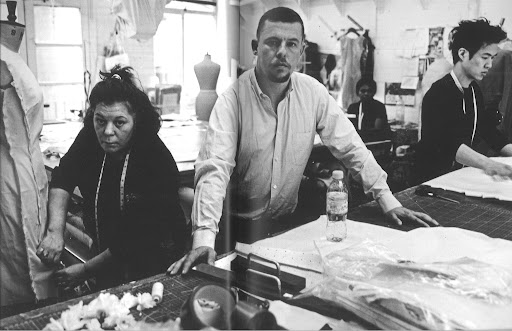 McQueen in his design studio in London.