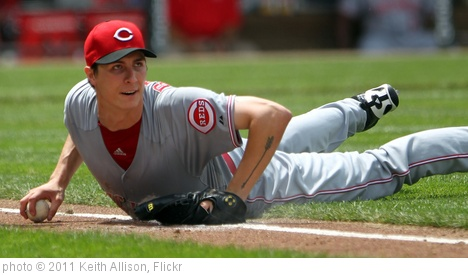 'Cincinnati Reds starting pitcher Homer Bailey (34)' photo (c) 2011, Keith Allison - license: http://creativecommons.org/licenses/by-sa/2.0/