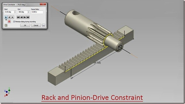 Rack and Pinion-Drive Constraint