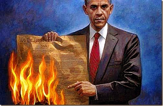 Obama Burning Constitution 2