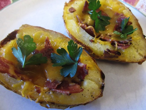 Barchette di Patate con Cheddar e Bacon 4