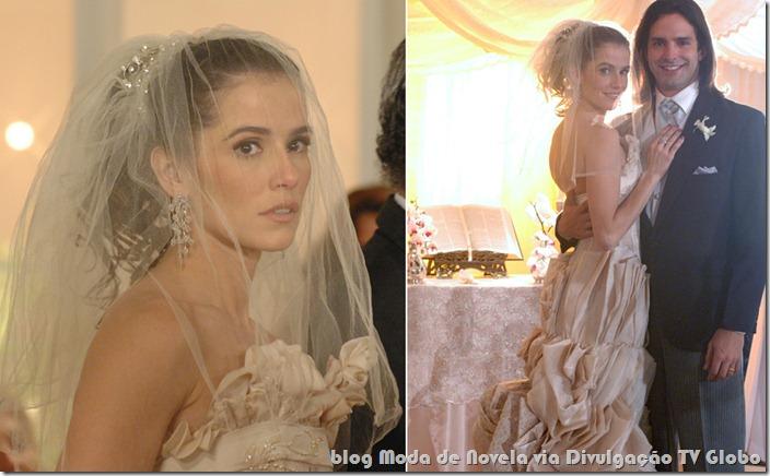 moda da novela a favorita - vestido de noiva da céu